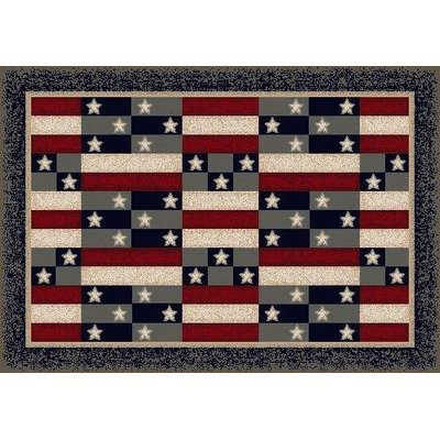 Click to buy Cabin Rugs: Milliken American Patchwork from Amazon!