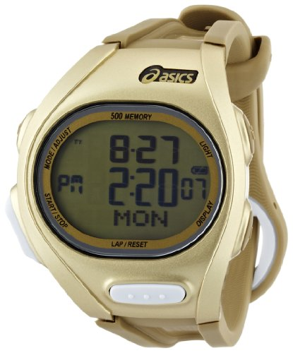 Asics Men's Race CQAR0208 Gold Polyurethane Quartz Watch with Digital Dial