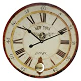 Hometime Round Glass Wall Clock