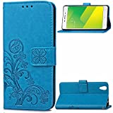 Oppo A37 Hülle, Oppo A37 Case,Cozy Hut Lucky Clover Muster