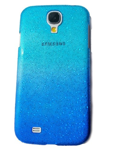Vandot Mobile Phone Accessory For Samsung Galaxy S4 I9500 1X 3D Clear Waterdrop Raindrop Gradient Protective Hard Back Case Cover Crystall Skin - Sea Blue Transparent Ultra Slim Skin Shell