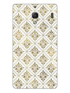 Gold Motifs Pattern - Hard Back Case Cover for Xiaomi red mi 2 s - Superior Matte Finish - HD Printed Cases and Covers