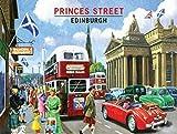 Princes Street, Edinburgh, Scotland. Old Vintage 50's 60's for home, kitchen, travel, garage, pub, bar or restaurant. Medium Metal/Steel Wall Sign