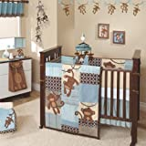 Lambs & Ivy Giggles 5 Piece Crib Bedding Set