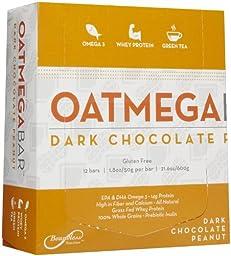 Oatmega Wellness Bars - Chocolate Peanut Crisp - 12 ct