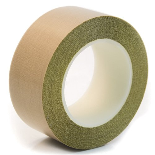 CS Hyde PTFE Coated Fiberglass Fabric With Silicone Adhesive, Brown 1 inch x 18 yards