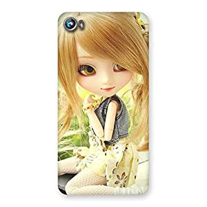 Stylish Cute Smiling Doll Multicolor Back Case Cover for Micromax Canvas Fire 4 A107