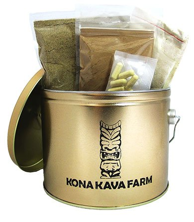 KONA KAVA Premium Kava Sampler Pack with Kava Powder, Instant Kava, Kava Capsules, and Muslin Extraction Bag (Kratom Powder Extract compare prices)