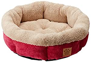 Precision Pet SnooZZy Mod Chic Round Shearling Cup Bed, 21-Inch,  Fuchsia Rose