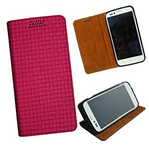 i-KitPit - New Design PU Leather Flip Case For Micromax Canvas Doodle A111 (PINK)