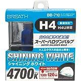 ベイテックススーパーハロゲンバルブ H4シャイニングホワイト 4700K BB-710(2個入)