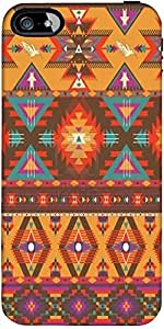 Snoogg Aztec Pattern Cream Stuff Hard Back Case Cover Shield ForForApple Iphone 5C / Iphone 5c