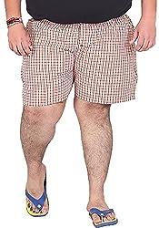 Xmex Men's Cotton Shorts (BXR-ORANGE, Orange, XX-Large)