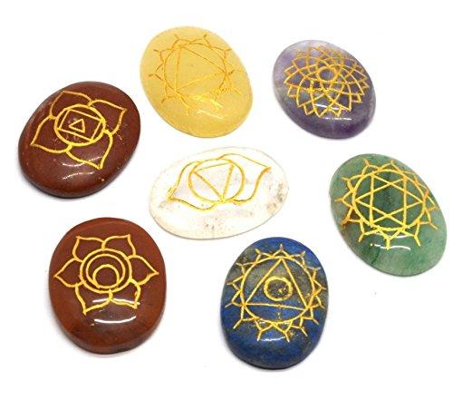 healing-crystals-india-7-piece-engraved-chakras-stones-palm-stone-crystal-reiki-healing-with-one-pou