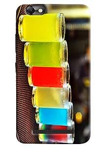 Omnam Glass Made Of Drinks Printed Designer Back Cover Case For Lenovo Vibe C (A2020)