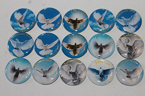 Geocache Refrigerator Magnets - Bible Scriptures / Images Of Doves (Christian Theme) Set front-156955