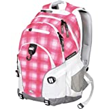 High Sierra Loop Backpack, Pink Square Plaid/White/Ash