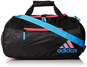adidas Squad II Duffel, Black/Solar Blue/Flash Red