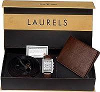 Laurels Brown Men's Wallet , Watch & Belt Combo