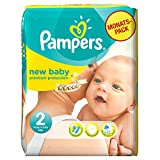 Pampers New Baby Couches Pack Economique 1 Mois de Consommation x 240 Couches Taille 2 3-6 kg