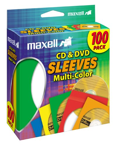 Maxell Multi-Color CD/DVD Sleeves - 100