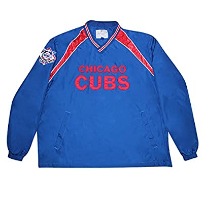 CHICAGO CUBS MLB Mens Athletic Pullover Wind Breaker Jacket with Lining