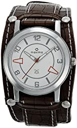 Maxima Attivo Analog White Dial Mens Watch - 24262LMGI