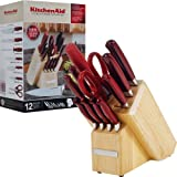 KitchenAid 12-Piece Pearlized Candy Apple Red Stainless Steel Cutlery Set With Convex Blade Edge