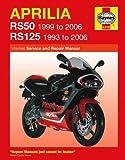 Aprilia RS50 RS125 Repair Manual Haynes Service Manual Workshop Manual 1993-2006