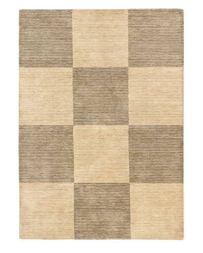 Hand-Knotted Kashkuli Gabbeh Wool Rug, Cream/Dark Gray, 5' 7 x 7' 10