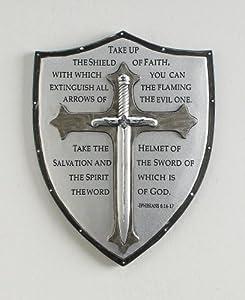 Armor of God Ephesians 6:16-17 Wall Plaque - Decorative Plaques