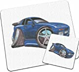 Personalised Koolart Porsche 944 Car Glass Table Mat Set