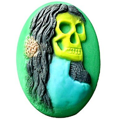 Halloween Human Skeleton Skull Fondant Cake Chocolate Silicone MoldL9.8cm*W7.9cm*H3.2cm