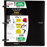 Five Star Flex Black NoteBinder, 1-Inch Capacity, 11.5 x 11 Inches, Notebook and Binder All-in-One (72009)