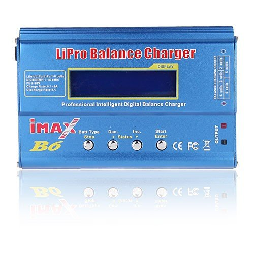 Digital Imax B6- DC Lipo NiMh LCD Digital Balance Battery RC Charger 1-6S Bright Blue