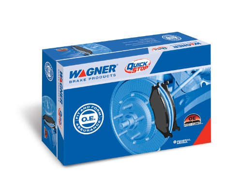 Wagner QuickStop ZD1363 Ceramic Disc Pad Set Includes Pad Installation Hardware, Front
