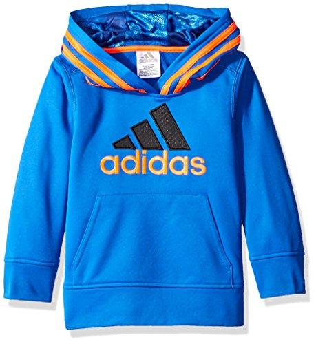 adidas Little Boys' Athletic Pullover Hoodie, Blue/Orange, 4