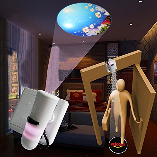 Grde™ 2014 Newest Grde™ 2014 Newest Welcome Projection Led Door Light Wireless Magnetic Sensor Light + Auto Pir Wireless 15 Led Indoor Motion Sensor Light White
