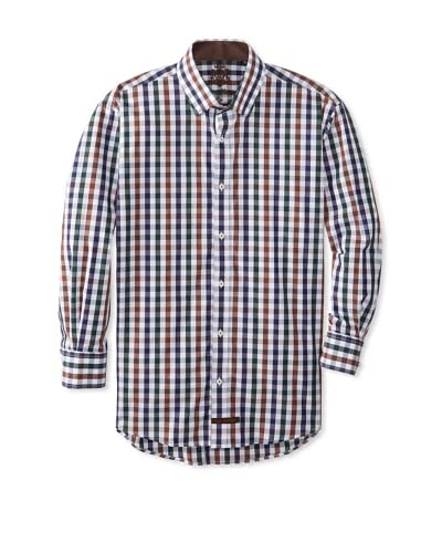 English Laundry Men's Gingham Dress Shirt