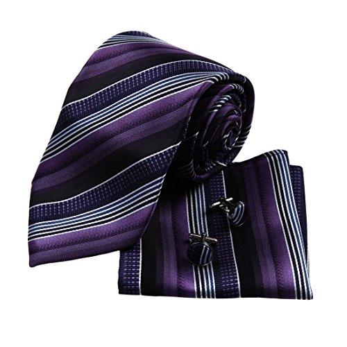 y g lila streifen designer f r m nner hochzeit krawatte italienischen stil seidenkrawatte. Black Bedroom Furniture Sets. Home Design Ideas