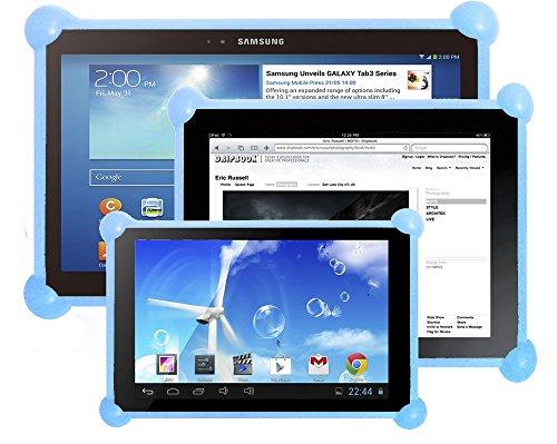 """Étui tablet silicone, portable Silicone Étui tablet, silicone tablet Coque Protection, silicone tablet housse Couverture, silicone tablet Couverture compatible avec toutes les tablettes de toute taille. Les coque idéal pour les enfants ou adultes. Le même coque pour toutes les tailles et marques de tablettes PC comme 7 """", 8"""", 9"""", 9.7"""", 10.1"""", iPad 2/3/4/ , Ipad Air, Ipad Mini, Galaxy Tab/Tab S/Note Pro, Nexus 7, Kindle Fire HD 6/7 Fire HDX 7/8.9 Fire 2, etc. (Celeste)"""