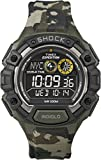 Expedition men's digital Watch with black Dial digital Display and green resin Strap T49971