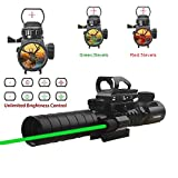 Hunting Rifle Scope 3-9x32mm with Red Dot Sight of Red / Green Reticle Mount Compact High Riser