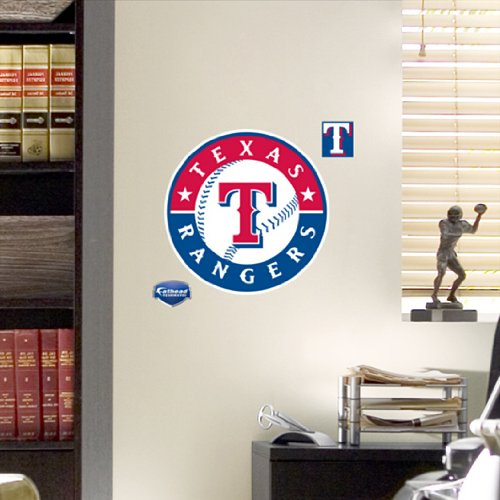 MLB Texas Rangers Fathead Logo Decal (Texas Rangers Baseball Bat compare prices)