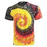 (カラートーン) Colortone レディース レインボー タイダイ 半袖Tシャツ 半袖カットソー フェスティバル トップス 女性用 ランキングお取り寄せ