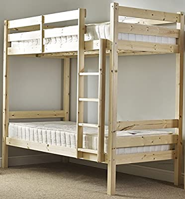 Heavy Duty Bunk Bed - 3ft single solid pine bunk bed - Can be used by adults - VERY STRONG