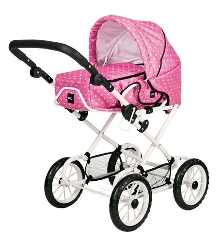 BRIO 90311 BRIO Doll Pram Combi Pink with Dots