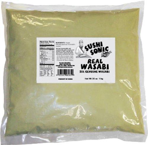 Sushi Sonic Wasabi Blend (51% Wasabi with Horseradish and Mustard), 35-Ounce Bag