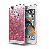 iPhone 6 Case, E-heyDay Luxury Diamond Hybrid Glitter Glamorous Bling Hard PC Case Shiny Sparkling with Crystal Rhinestone for iPhone 6/6S 4.7Inch (Hot Pink)