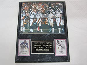 Minnesota Vikings PURPLE PEOPLE EATERS 2 Card Collector Plaque w 8x10 Photo by J & C Baseball Clubhouse